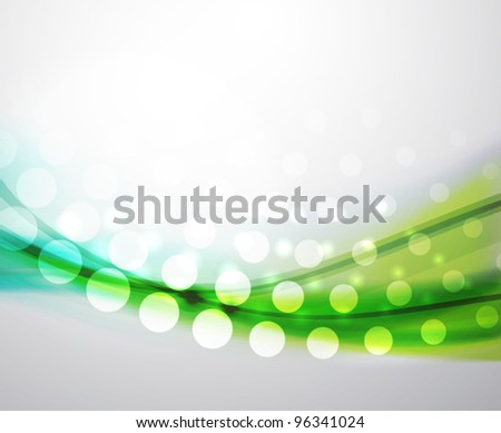 Eps10 vector abstract green and blue blur wave background