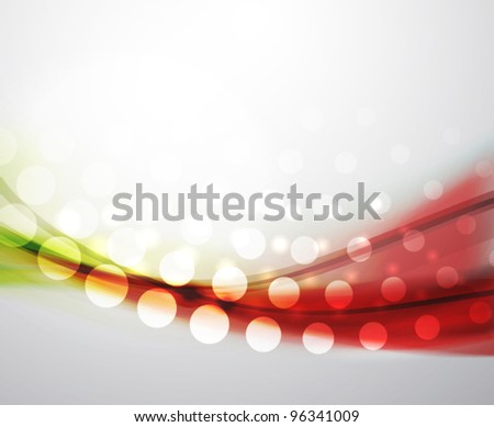 Eps10 vector abstract green and red blur wave background