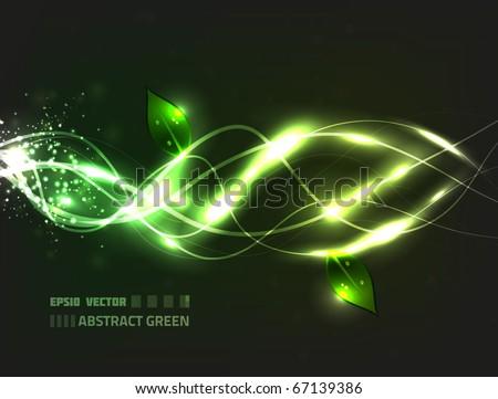 eps10 vector abstract green eco