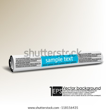 eps10 vector abstract newspaper scroll for business ads