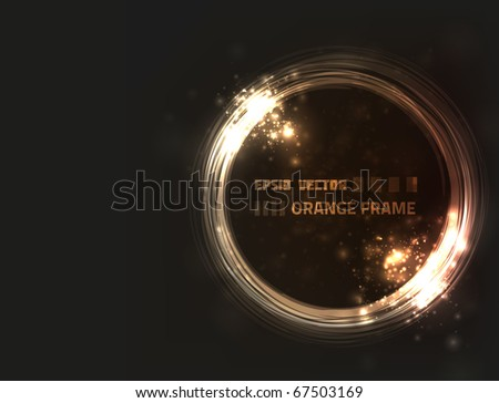stock-vector-eps-vector-abstract-orange-frame-design-against-dark-background-with-slight-texture