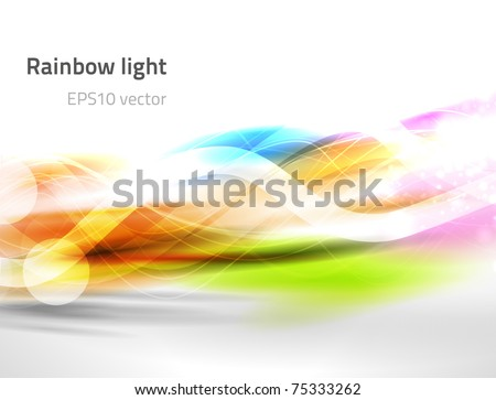 EPS10 vector abstract rainbow light