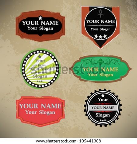 eps10 vector abstract set of grunge badges