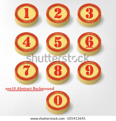 eps10 vector abstract set of vintage numbers design