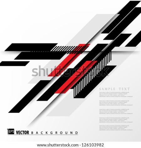 Stock Photo Eps10 Vector Abstract Slant shapes Background design
