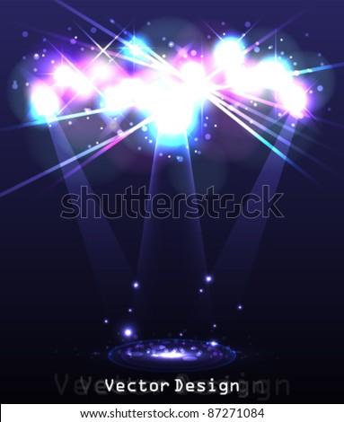 Eps10 Vector Abstract Spotlight Background Design