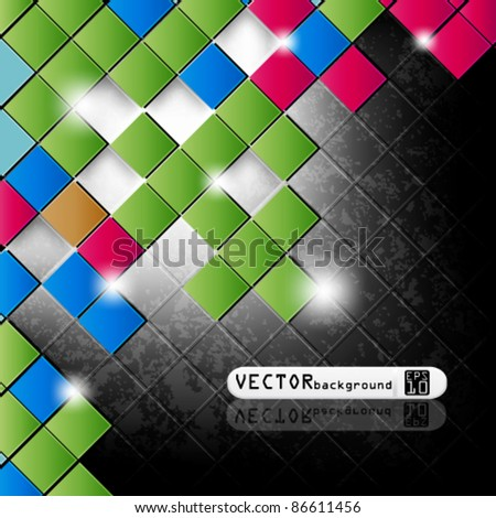 eps10 vector abstract square background design