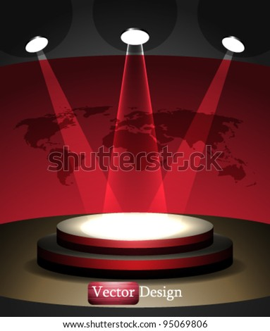 Eps10 Vector Abstract Stage Concept Design