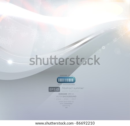 EPS10 vector abstract swirl shine background with snowflakes