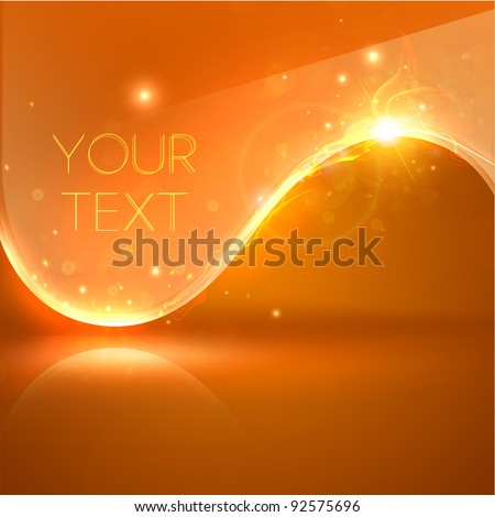 EPS10 vector abstract swirl with fire. Orange version. Eps10 vector. - stock vector