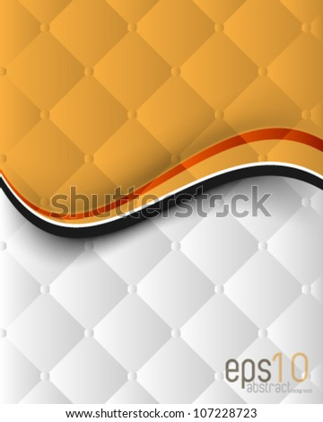 eps10 vector abstract wave elements, chrome seamless pattern template background