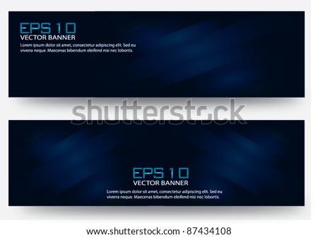 Eps 10 vector banner dark blue