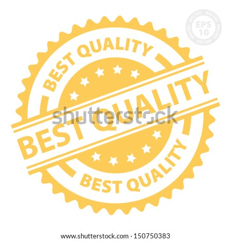 EPS10 Vector : Best Quality Rubber Stamp with Orange color (Sticker, Tag, Icon, Symbol)