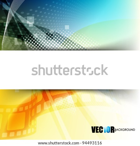 eps10 vector blank frame in futuristic background - stock vector