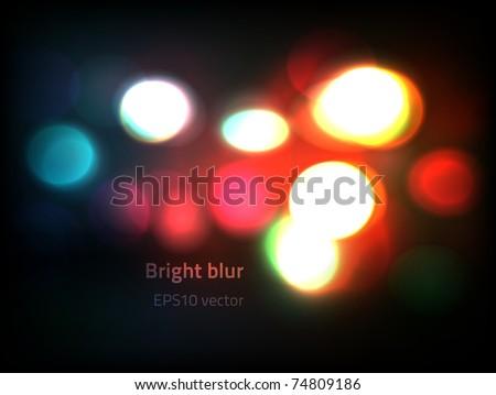 EPS10 vector bokeh lights