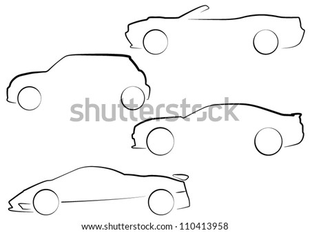 EPS10 Vector Car Outlines