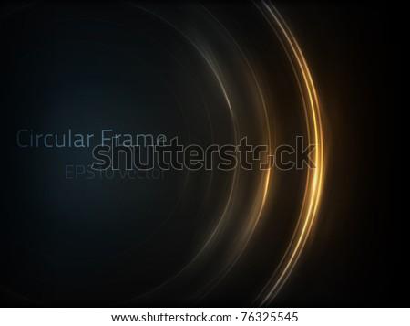 EPS10 vector circular frame - stock vector
