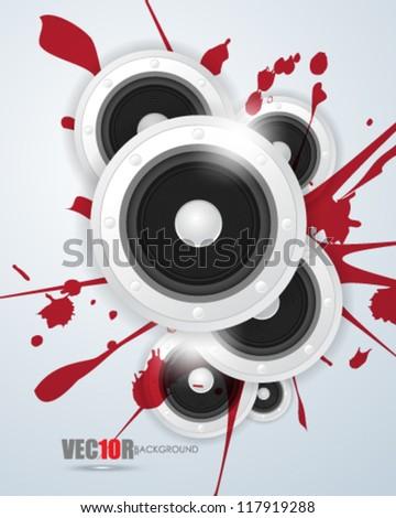 eps10 vector digital speaker and ink concept design