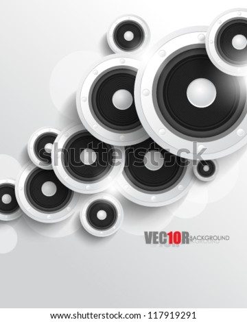 eps10 vector digital speaker concept design
