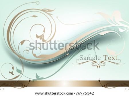 eps10 vector elegant foliage background design - stock vector