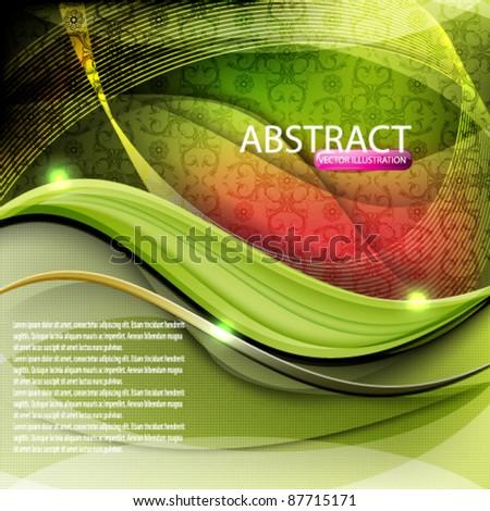 eps10 vector elegant seamless wave design background