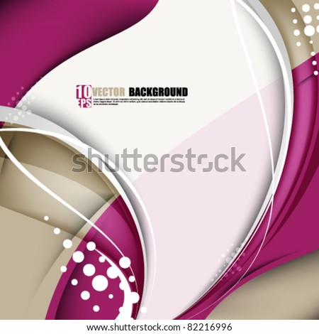 eps10 vector elegant wave with portion in the middle for your text and images