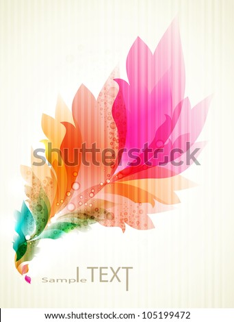 eps10 vector floral design . abstract background