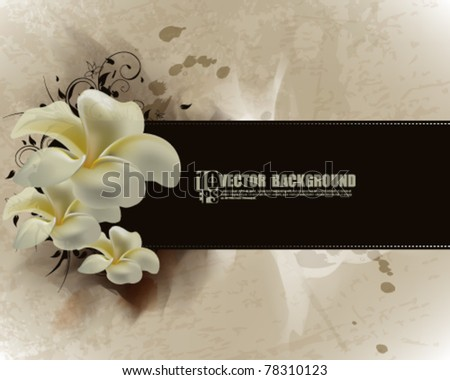 eps10 vector flower inspired vintage background - stock vector