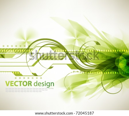 eps10 vector futuristic burst green design - stock vector