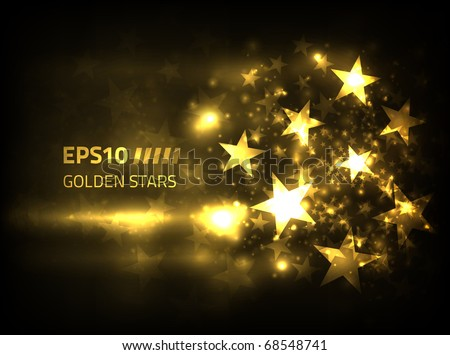 eps10 vector golden stars