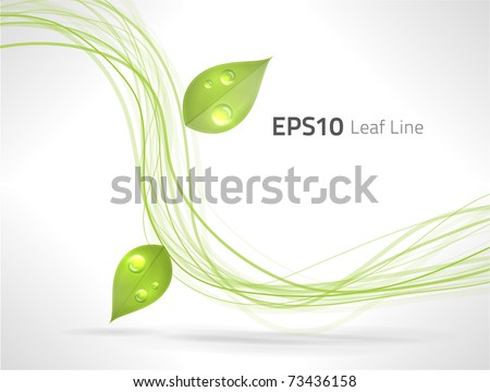 EPS10 vector green lines abstraction