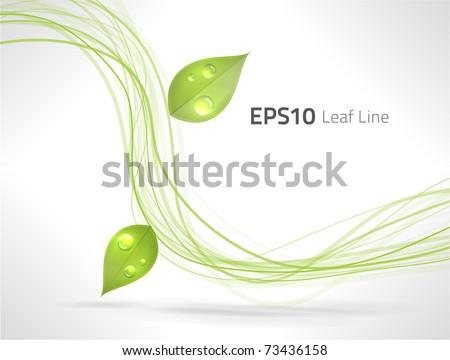 eps10 vector green lines
