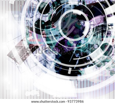 Eps 10 vector - high tech abstract background