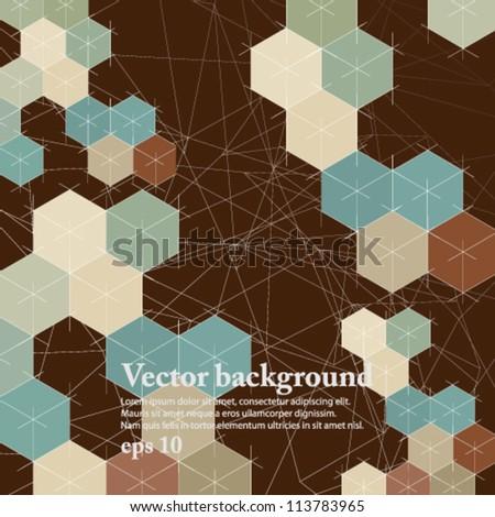 eps10 vector illustration 3D geometric cover background