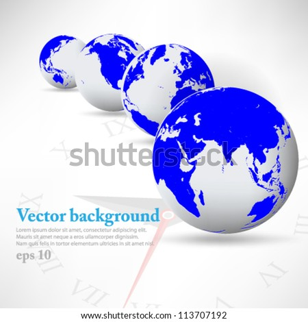 eps10 vector illustration 3D globe set background design