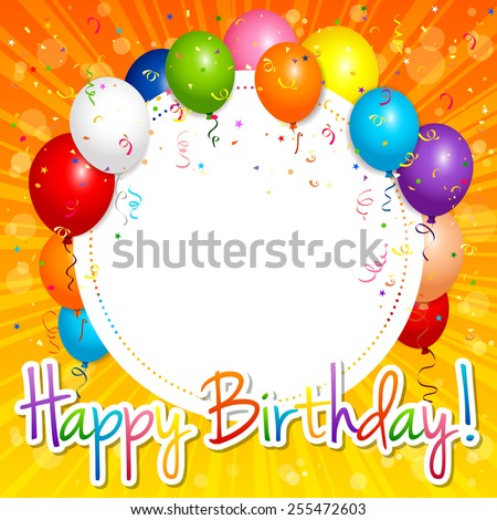 EPS 10 Vector illustration of happy birthday card. Used opacity and blending mode. Objects are layered.