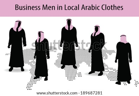 middle east clothes free vector stock graphics