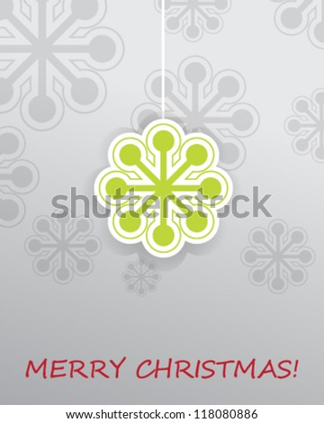 eps10 vector illustration snow flakes Christmas background template