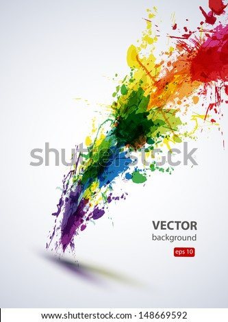 eps10 vector ink abstract