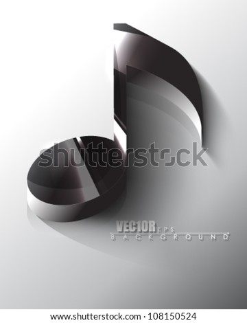 eps10 vector isolated chrome music note icon design