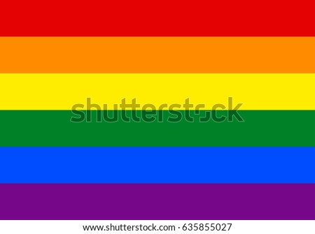 eps 10 vector LGBT pride flag, rainbow flag background. Multicolored peace flag movement. Original colors symbol. Horizontal stripes icon. Graphic design sign mockup. Editable template for web, print