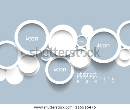eps10 vector minimalistic circles concept background