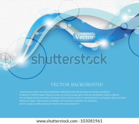 Eps10 Vector Modern Abstract Business Background Design