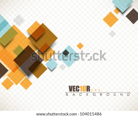 eps10 vector multicolor abstract square design