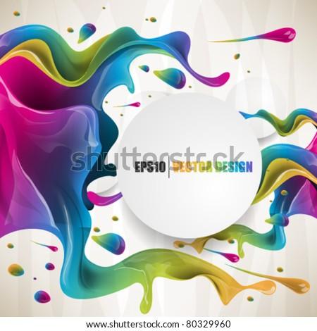 eps10  vector multicolor splat