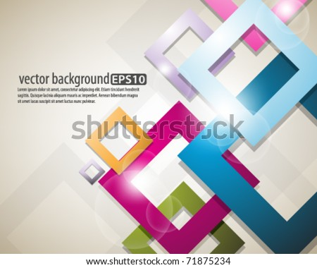eps10 vector multicolor square design