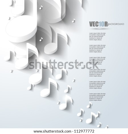 eps10 vector music note background design