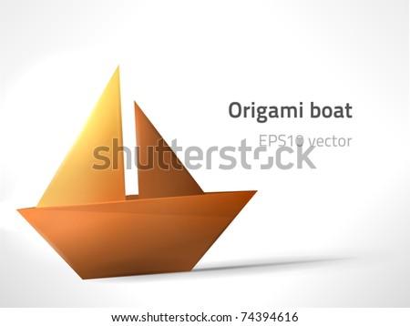 EPS10 vector origami boat