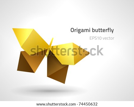 EPS10 vector origami butterfly