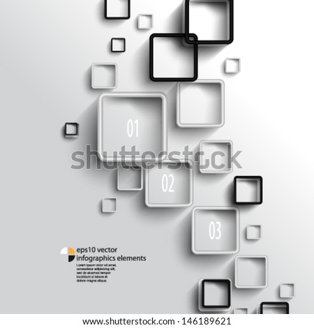 eps10 vector overlapping geometric squares infographics background